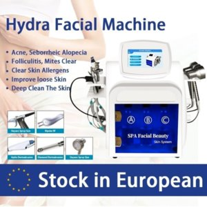 Stock in Spain New Korean Style 5 In 1 Cooling Rf Microcurrent Face Lift Ultrasonic Massage Hydrafacial