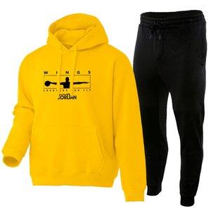 Sonbahar ve kış yeni spor erkek moda marka rahat hoodie takım elbise moda peluş büyük boy kazak