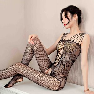 Sexy Qianziman lingerie women lace sling transparent whole body silk stockings temptation net suit