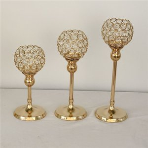 Vintage Tealight Candle Holders Wedding Party Glass Stand Dining Table Crystal Candlestick Home Desktop Decor Candle Holder Gold Silver