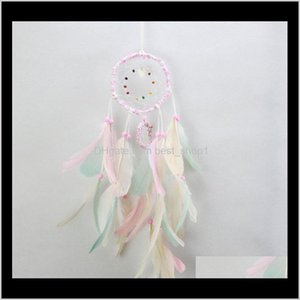 Arts And Crafts Colorful Handmade Dream Catcher Feathers Car Home Wall Hanging Decoration Ornament Gift Wind Chimecraft Decor Supplies Xwxl4