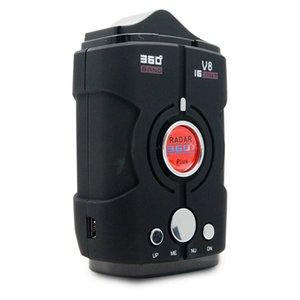 V8 Car Speed Detector Vehicle Radar Detectors English Russian Voice Alarm Alert 360 Degree Speed-Monitor For GPS Navigator