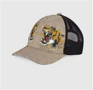 2021 Designer Ball Caps Classic high quality snake tiger bee cat canvas featuring men baseball cap with box dust bag fashion women sun hat bucket hats