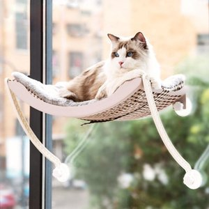 Cat Hammock Pet Balcony Hanging Bed Window Mount Sunny Seat For Climbing Sleeping Lounger Mat Warm Ferret Cage Shelf Beds & Furniture