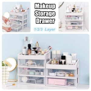Layer Makeup Organizer Drawers Plastic Cosmetic Storage Box Jewelry Container Make Up Case Brush Holder Organizers Boxes & Bins