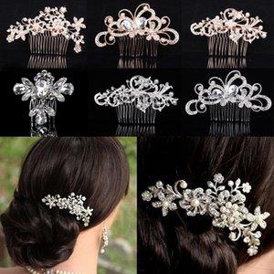 Элегантный горный хрусталь Bridal Hair Gom Pearl Crystal Headper ультрамодная вечеринка Ювелирные изделия Свадебные аксессуары Клипы Barnettes