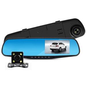Vitog Night Vision Car Dvr Camera Rearview Mirror Digital Video Recorder Auto Camcorder Dash Cam FHD 1080P dual len Registrator