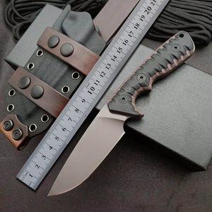 Miller Bros M27 Tactical Straight knife DC53 Camping EDC Combat self defense Hunting Survival knives BM 176 133 15200 3310 3400 26sxp UT85
