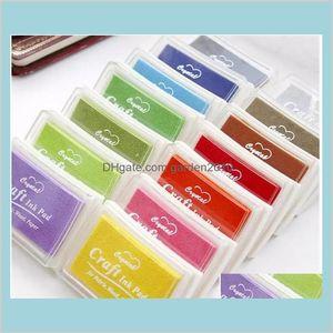 Stamps Desk Accessories Office & School Supplies Business Industrial 500Pcs Multi Color 15 Colors Diy Work Oil Gradient Stamp Set Big