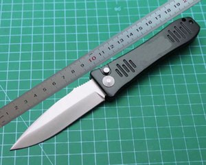 1Pcs 2021 Auto Tactical Folding Knife D2 Satin Drop Point Blade 6061-T6 Handlle EDC Pocket Knives With Retail Box