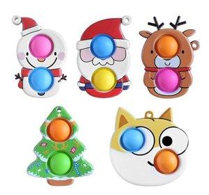 50%off Christmas Fidget Toys Push Antistress Cartoon Toy Party Gifts Simple Dimple Soft Sensory Reusable Squeeze Wholesale ottie