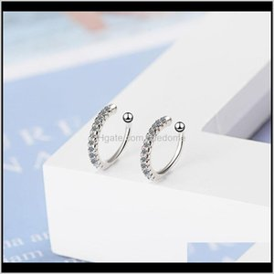 Knot Jewelry Drop Delivery 2021 Vintage Clip On Crystal Ear Cuff Non Pierced Nose Ring Fashion Women Earrings Punk Rock Earcuff Wsdg8