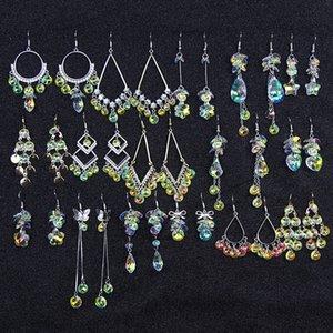 Ear Ring New Style Long Shining Crystal Zircon Earrings for Women Elegant Luxury Ear Pendant Earrings Trendy 2020DIO CHAN CONTACT