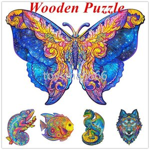 Wooden Puzzle Jigsaw Unique Shape Jigsaw Pieces Charming Owl Wooden Jigsaw Puzzle Best Gift for Adults and Kids CPA2646