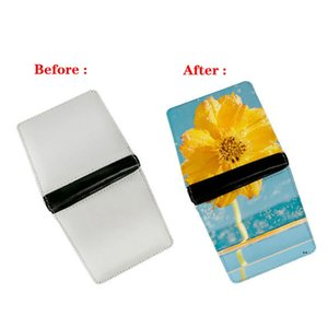 Sublimation Blank DIY PU Double Side Foldable Clutch Wallet For Women Men Creativity Thermal Transfer Printing Purse FWF7313