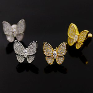 woman Charm carti stud Earrings Butterfly cleef rings Designer Pendant Necklaces Screw Bracelet Van Loves Fashion with box 30
