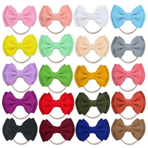 20Pcs Baby Girl Headbands and Bows Knot Nylon Headwrap Hair bands for born Toddler Children