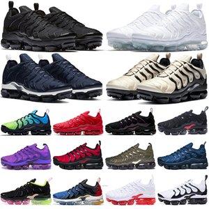 vapormax plus tn vapors vapor max tn plus TN artı açık koşu ayakkabıları erkek kadın eğitmenler Gerçek Ol Zeytin Suman tns erkek bayan spor ayakkabı büyük boy 36-47