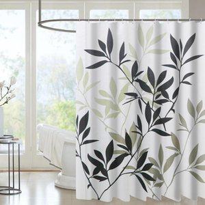 Shower Curtains Polyster Overlanding Fashion Custom Water Resistant Manufacturer Print Bamboo Leaves Curtain