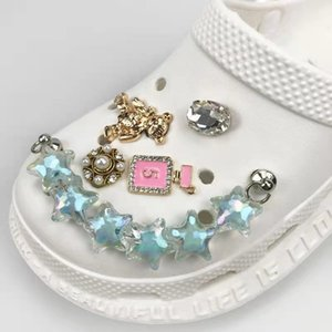 Designer Jewelry Croc Charm Chains Bling Rhinestone Pearl JIBZ Women Gift Crocks Charms For Clog Decaration