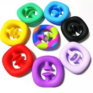 SNAPPERZ Unzip Toys Silicone Hand Grip Pop It Fidget Toys Grip Ring Sensory Toy Autism Stress Reliever Antistresse Toy Party Favor CYZ3048