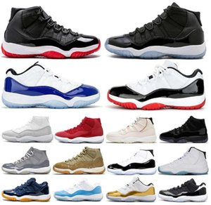 25 주년 기념 11 Jumpman 11S 감귤류 낮은 바구니 볼 신발 남성 Womens 콩코드 45 브리드 높은 공간 잼 모자와 가운 감마 블루 남성 여성 운동화 트레이너 A10