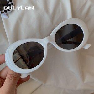 Clock Goggles Kurt Cobain Sonnenbrille Männer Vintage Oval Sonnenbrille Retro Weibliche Männchen Weiß Schwarz Eyewear UV400