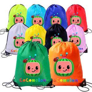 Çocuklar Cocomelon Karikatür İpli Çanta Tiktok Yeni Çocuk Sırt Çantaları Anime Omuz Çantaları Seyahat Alışveriş Plaj Kitap Paketi Öğle Yemeği Tote Organizatör G49KR7J