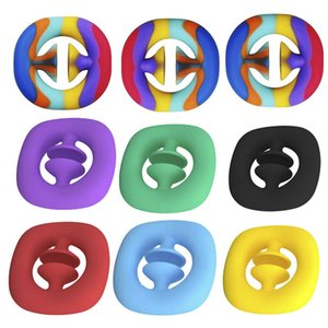 Anti Stress Finger Silicone Hand Grip Reliever Fidget Toy Adult Child Simple Dimple Toys Decompression Pop It LLA4881
