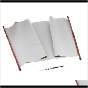 Painting Supplies Chinese Calligraphy Brush Pen And Rewrite Scroll Paper Ink Water Write Blank Cloth For Gifts 4Hga8 Tcxro
