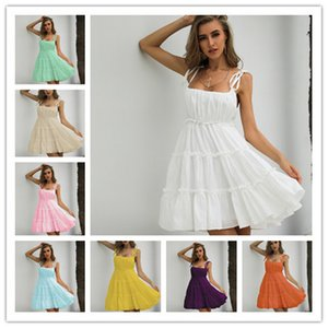 Super Fairy Cake Skirt Retro Platycodon Girl Evening Dress Sleeveless Shiny Sequined Prom Dress Elegant Spaghetti Party Dresses Short Special Occasion Dresses