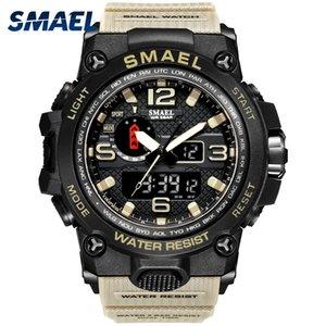 Montre militaire Hommes 50m Montre-bracelet imperméable à l'eau LED Horloge de quartz Horloge mâle Relogios Masculino 1545 Sport Montres Sport Men Sum