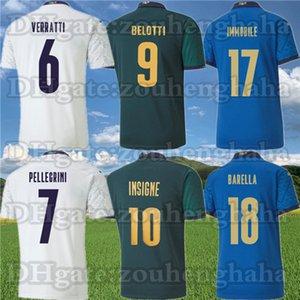 Italy Insigne Belotti Jerseys 2020 Maillots De Pé Verratti Jorginho Imóvel Pirlo Bonucci El Shaarawy Football Camisas