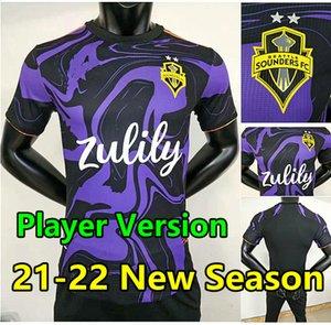2021 Sounders Sounders FC Jerseys de football Purple 21 22 Roldan Rudidiaz LodeIro Montero Morris Camisetas de futbol Delem Chemises de football Maillots Foot