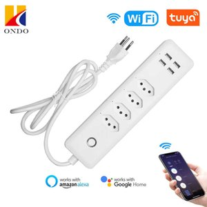 Explosive new intelligent Brazilian gauge four hole WiFi timing switch 10A row plug with USB interface