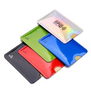Card Holders 5 10 20Pcs Anti-Theft Holder Aluminum Foil RFID Case Shielding Bag Anti-degaussing Protection Bank Set