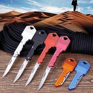 Anahtar Şekli Mini Katlanır Bıçak Çok Fonksiyonlu Anahtarlık Açık Sabre İsviçre Kendini Savunma Bıçakları EDC Aracı Dişli WLL182