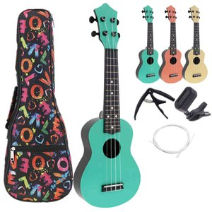 21 Inch Soprano Ukulele Colorful Acoustic 4 Strings Hawaii Guitar Instrument for Children and Music Beginner