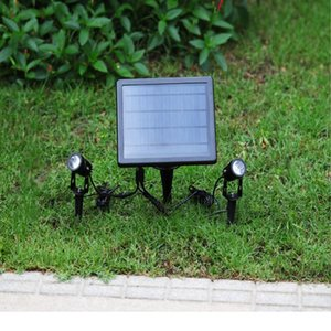 Solar Lamps One For Two Led Lights Outdoor Waterproof Gardening In-ground Spotlights 3 Meters Long Lawn Light Control Lamp