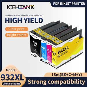 Ink Cartridges Icehtank Compatible For 932 933 932XL 933XL Cartridge Officejet 7110 6100 6600 7510 7512 7612 7610 Printer