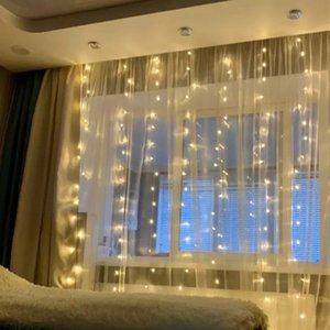 Garland Icicle LED Curtain Fairy Lights Christmas Decorations For Wedding Living Room Patio Party Holiday Lighting