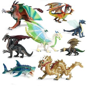 Simulation Solid Science Fiction Animal Figure Doll Kids Toys Flying Magic Dragon Dinosaur Adult Toys Ice Dragon Gift