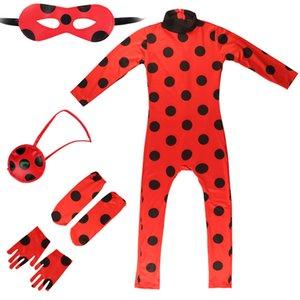 Halloween NEW Ladybug girl cloth cos clothing glov foot cover separate eye mask bag wig 5-piece set
