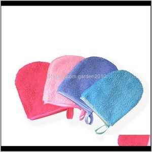 Bath Brushes Sponges Scrubbers 6 Colors Reusable Microfiber Facial Cleansing Glove Face Towel Makeup Remover Gloves Beauty Care Tool W 4Rhi1