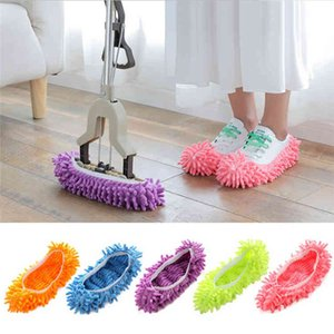 Mopping Shoe Multifunction Solid Dust Cleaner House Bathroom Floor Shoes Cover Cleaning Mop Slipper Housekeeping Tools HFXO