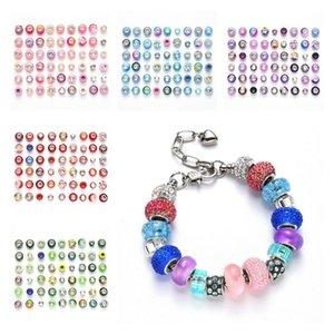 Loose Beads 54pcs   Lot Set Bracelet BEADS HANDMADE materials DIY accessories Charms Bracelet 8 style T2I52291