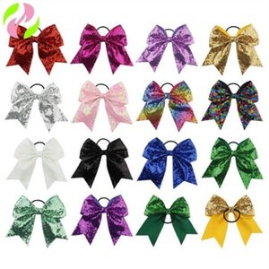 Headbands Sequins Baby Girl Bowknot Hair Bow Kids Elastic Hairbands Headband Turban Solid Headwear Fashion Hair Band Accessories C279