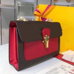 Роскошные сумки дизайнерские сумки сумки женские классические буквы печати с широким наплечным ремешком Messenger сумка мода женщины кошелек высокое качество 01