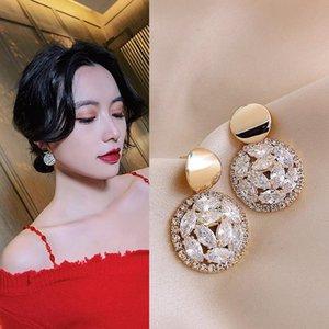 2021 Newest Korean Trendy Exquisite Star Moon Long Tassel Dangle Earrings For Women Temperament Crystal Pendant Jewelry