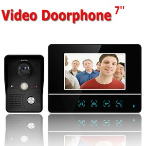 Inch TFT Touch Screen Color LCD Video Door Phone Wired Intercom 1 Monitor Doorbell System Phones